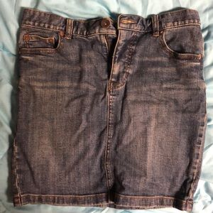 Free People Fitted Jean Skirt